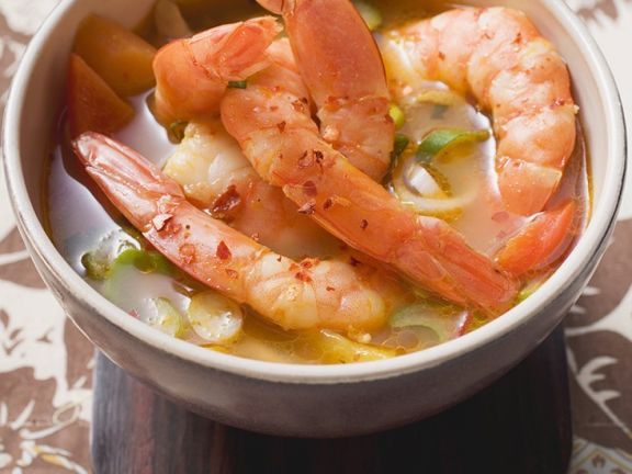 Thai Soup with Shrimp