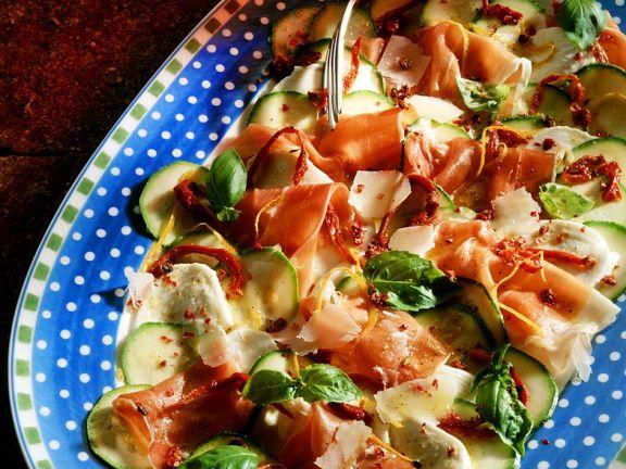 Thinly Sliced Veg and Ham Platter