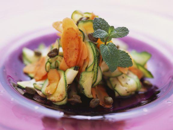 Thinly Sliced Vegetable Appetiser