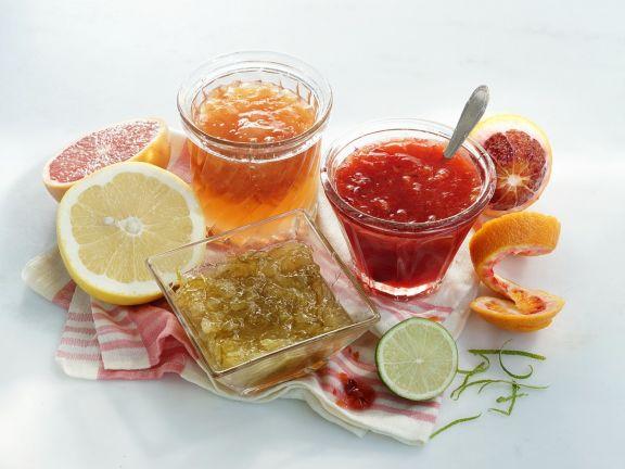 Three Citrus Marmalades