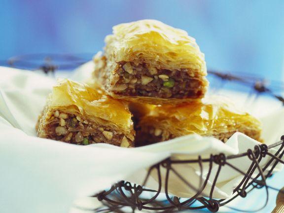 Three-Nut Honey Baklava