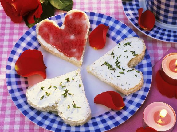 Toast Hearts for Valentine's Day