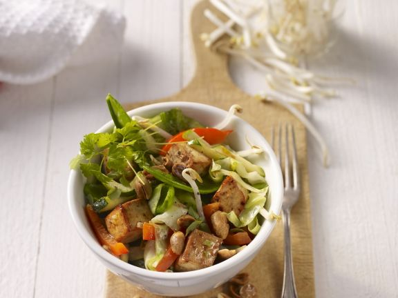 Tofu and Mixed Vegetable Stir-Fry