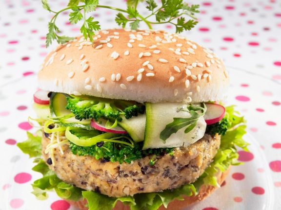 Tofu Burger with Vegetables