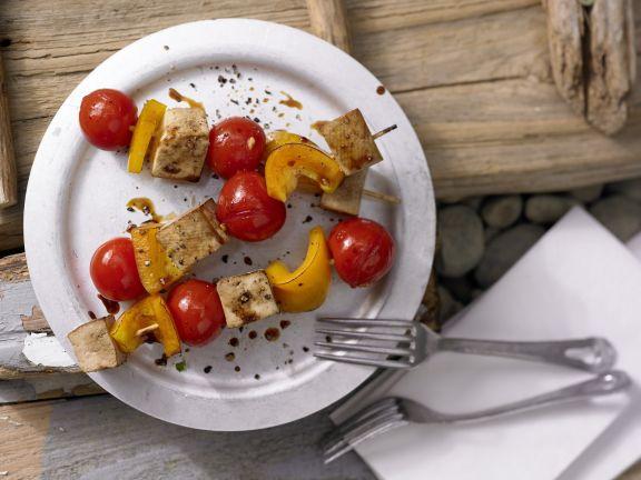 Tofu and Bell Pepper Skewers