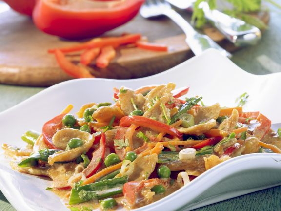 Tofu Ragout with Bell Peppers