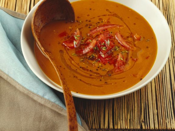 Tomato and anchovy soup