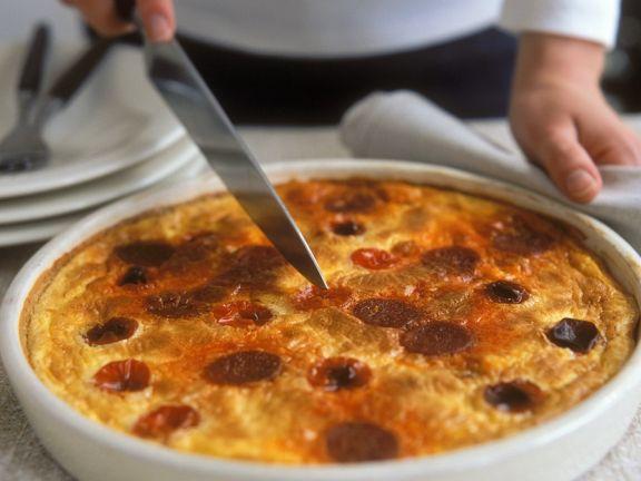 Tomato and Chorizo Torte