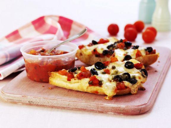 Tomato and Olive Salsa on Ciabatta