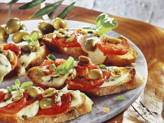Tomato and Olive Toasts