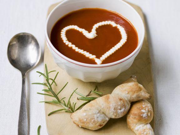 Tomato Bisque with Garnish