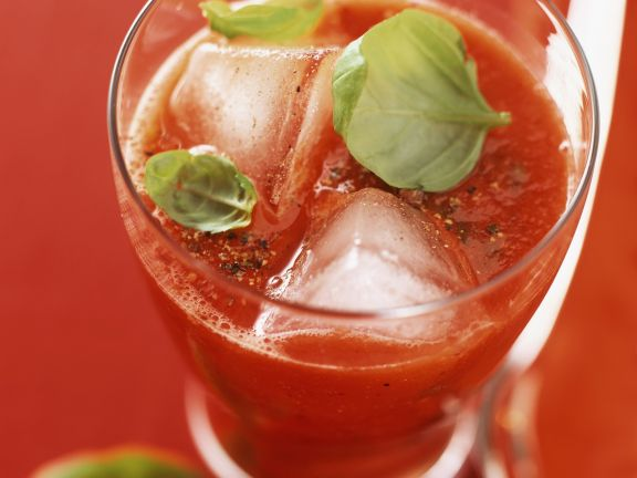 Tomato Cocktail with Basil