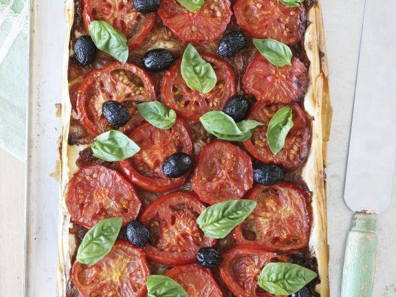 Tomato, Olive and Onion Tart