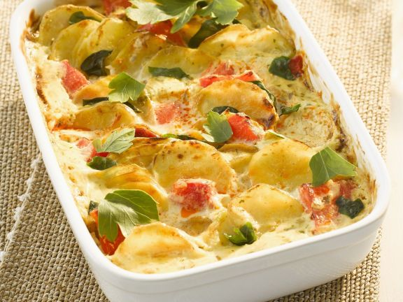 Tomato, Potato, and Herb Bake