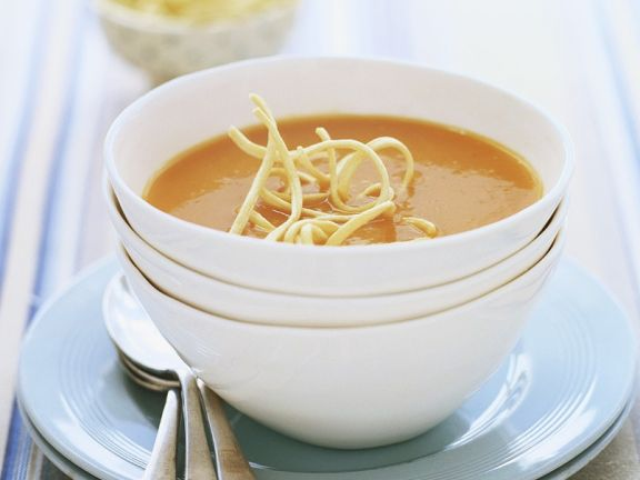 Tomato Soup with Japanese Noodles