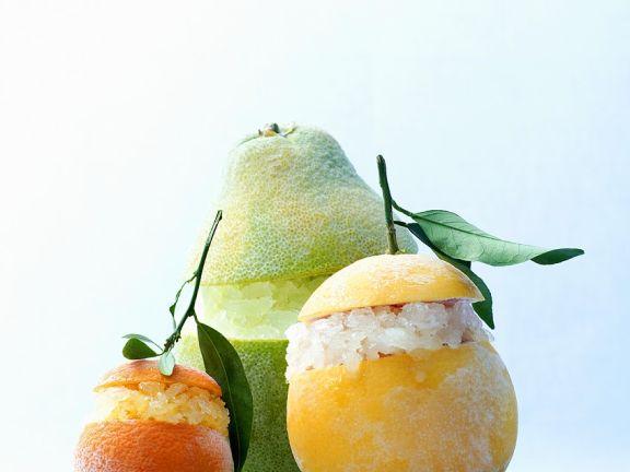 Trio of Citrus Granitas
