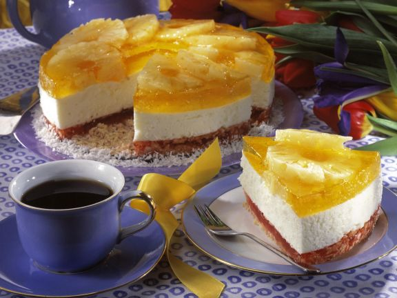 Tropical Fruit and Cream Cheese Gateau