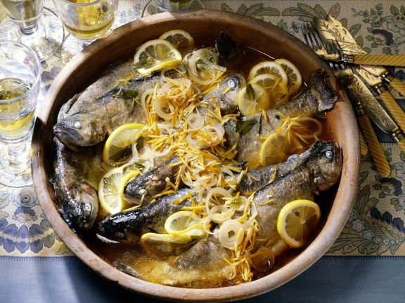 Trout in Lemon and Onion Marinade