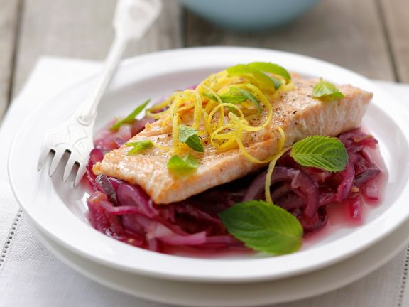 Trout on the Bed of Red Wine Onions