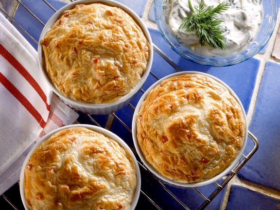 Trout Soufflés with Dill Cream
