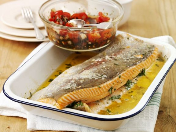 Trout with Chopped Tomatoes