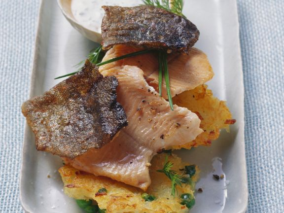 Trout with Potato Cakes