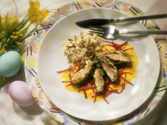 Trout with Riesling Sauce and Beets