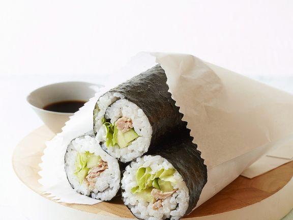 Tuna and Avocado Maki Rolls