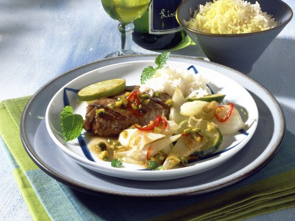 Tuna and Fennel with Pistachio Lime Sauce