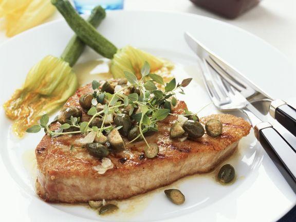 Tuna Steak with Capers