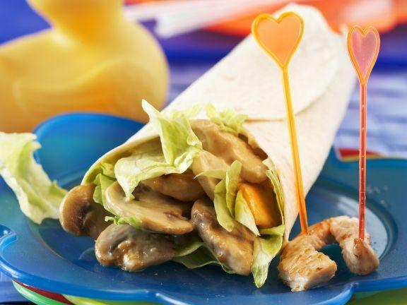 Turkey and Mushroom Wrap