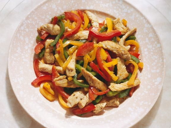 Turkey and Red Peppers