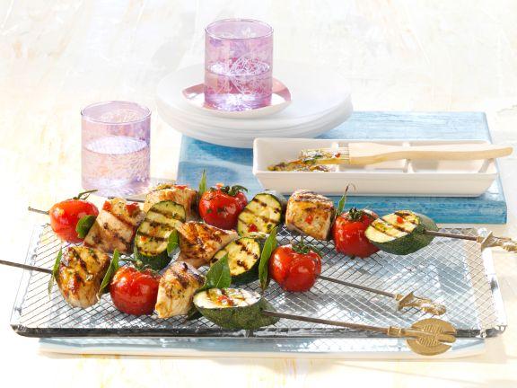 Turkey and Vegetable Kebabs