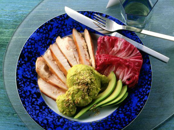 Turkey Breast with Avocado Cream