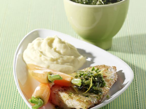Turkey Cutlets with Almond-parsley Pesto