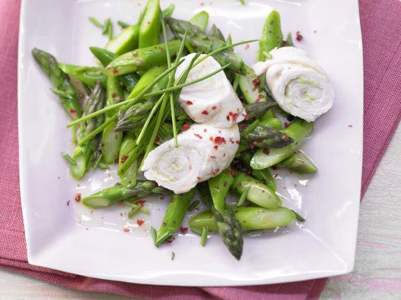 Turkey Rolls with Asparagus Salad