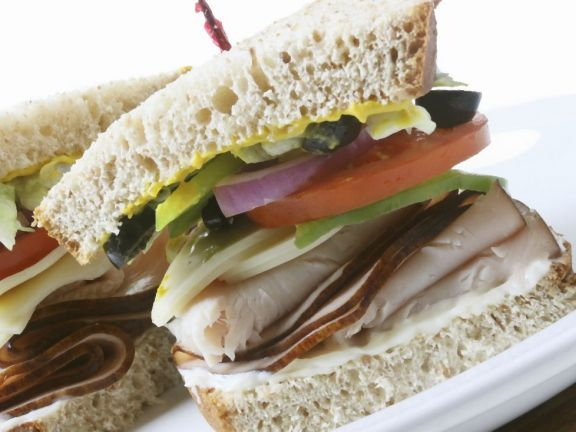 Turkey Salad and Mayo Sandwich