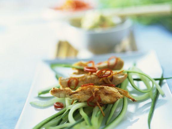Turkey Strips with Cucumber