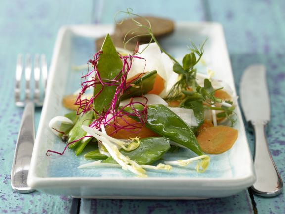 Turnip Salad with Sprouts