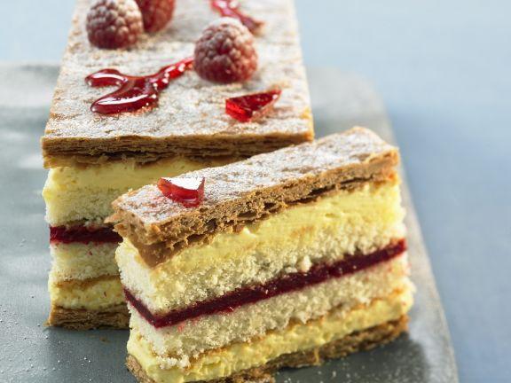 Vanilla and Berry Torte Stack
