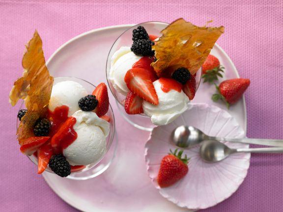 Vanilla Ice Cream Sundaes