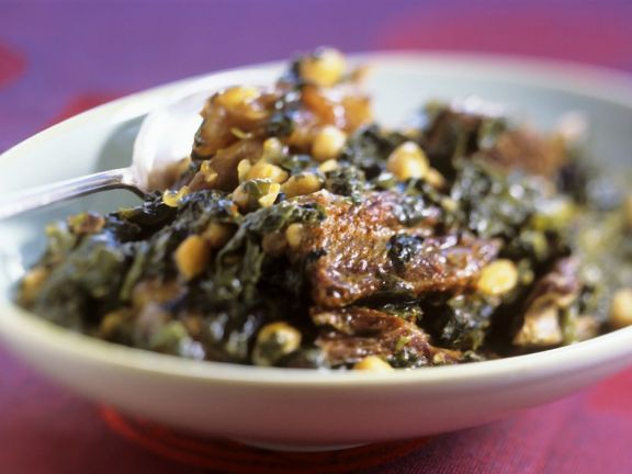 Veal and Spinach Braise