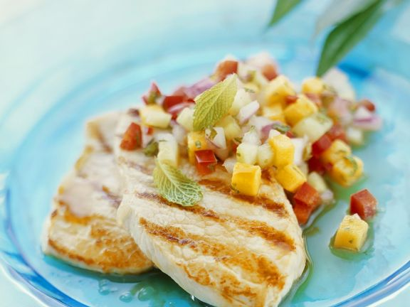 Veal Cutlets with Tropical Salsa