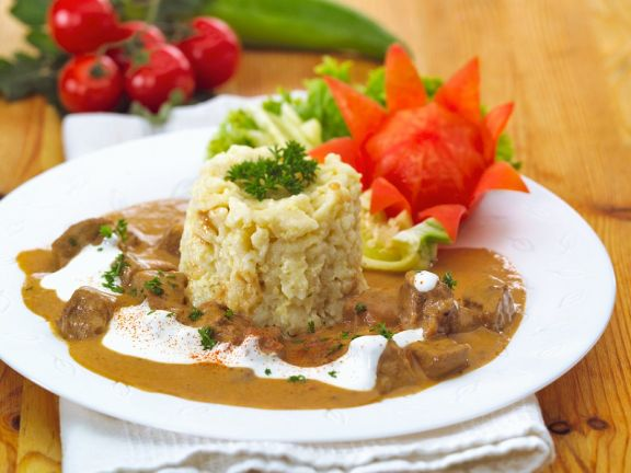 Veal Goulash with Spaetzle