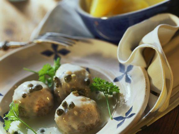 Veal Meatballs with Lemon Caper Sauce