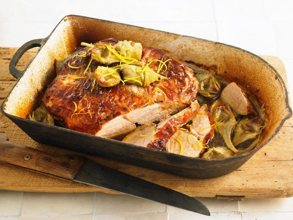 Young Beef Roast with Artichokes