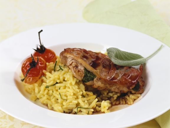 Veal Saltimbocca with Rice