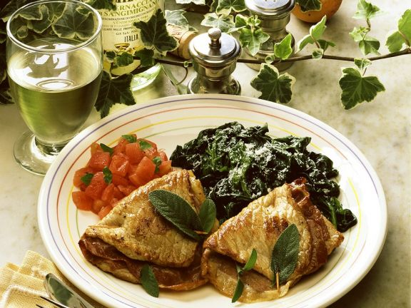 Veal Saltimbocca with Spinach