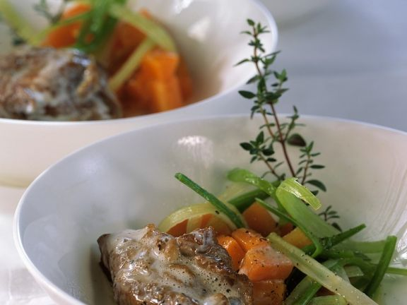 Veal Shank with Vegetables