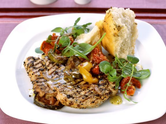 Veal Steaks with Vegetables